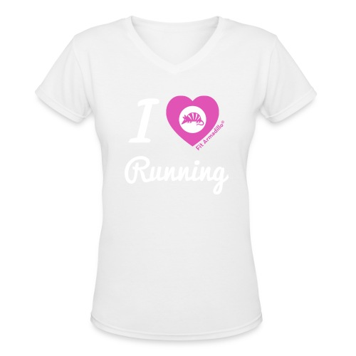 I love running - Women's V-Neck T-Shirt