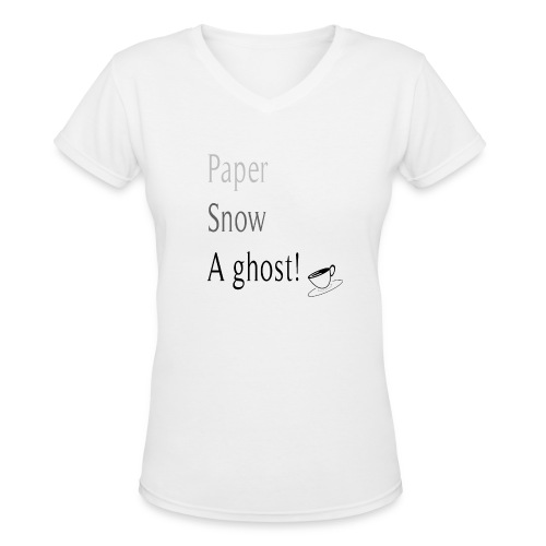 Paper Snow Ghost - Women's V-Neck T-Shirt