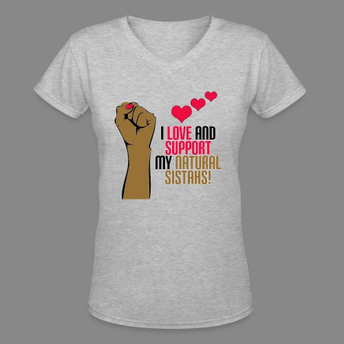 Love and Support Basic Tee - Women's V-Neck T-Shirt