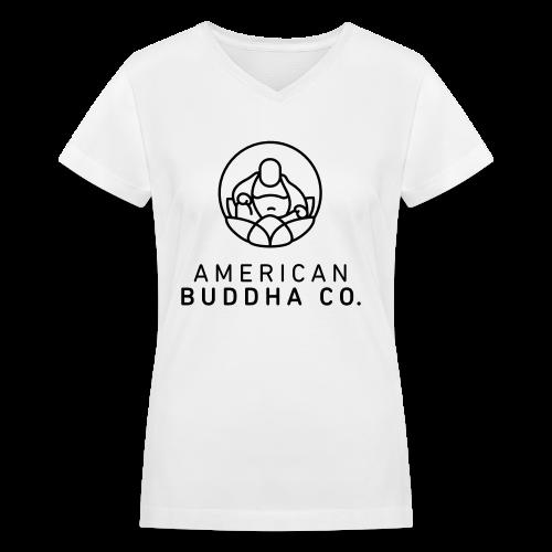 AMERICAN BUDDHA CO. ORIGINAL - Women's V-Neck T-Shirt