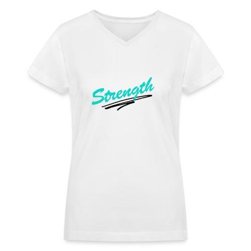 Strength Tank - Women's V-Neck T-Shirt