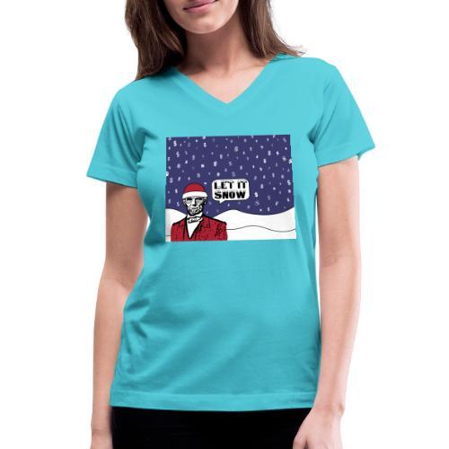 Let It Snow - Women's V-Neck T-Shirt