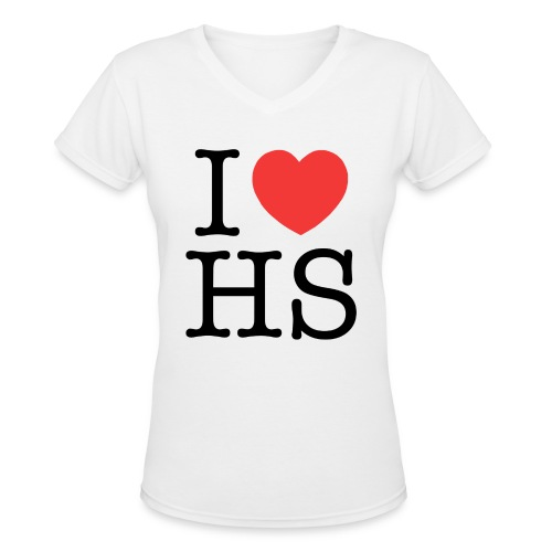 I HS - Women's V-Neck T-Shirt