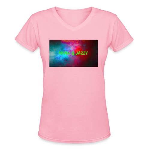 NYAH AND JAZZY - Women's V-Neck T-Shirt