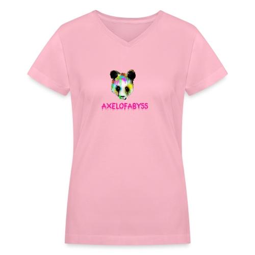 Axelofabyss panda panda paint - Women's V-Neck T-Shirt