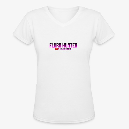 The Fluro Hunter Black And Purple Gradient - Women's V-Neck T-Shirt