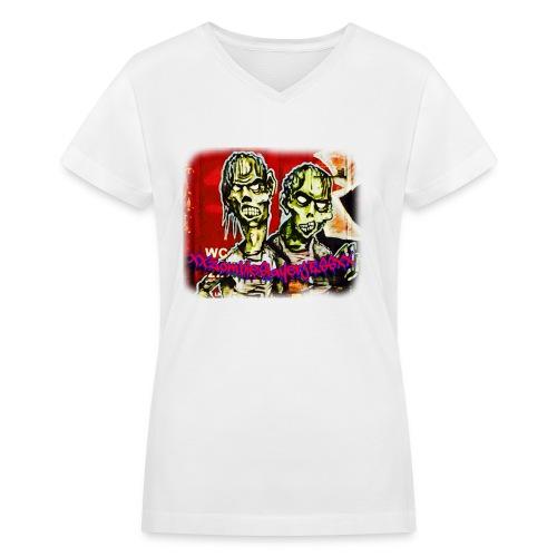 xxZombieSlayerJESSxx - Women's V-Neck T-Shirt