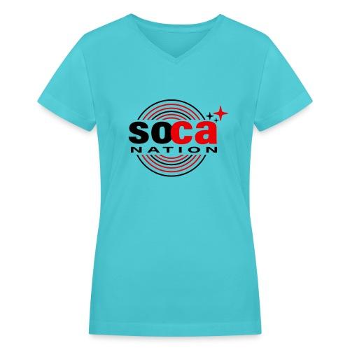 Soca Junction - Women's V-Neck T-Shirt