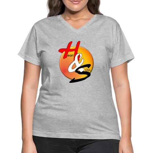 Rcahas logo gold - Women's V-Neck T-Shirt