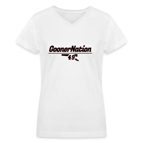 GoonerNationSpreadshirt - Women's V-Neck T-Shirt
