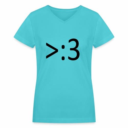 >:3 - Women's V-Neck T-Shirt