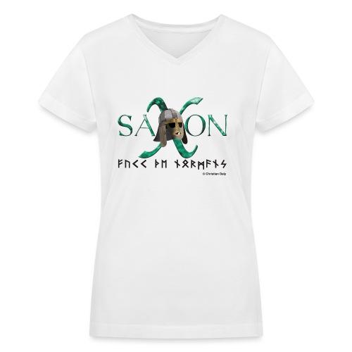 Saxon Pride - Women's V-Neck T-Shirt