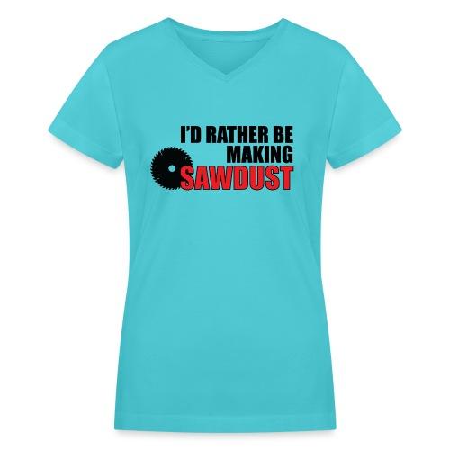 I'd Rather Be - Women's V-Neck T-Shirt