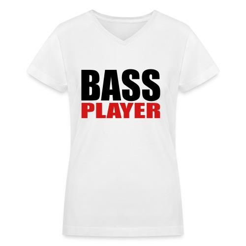 Bass Player - Women's V-Neck T-Shirt