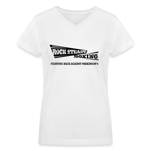 I Am Rock Steady T shirt - Women's V-Neck T-Shirt