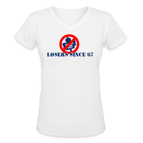 loserssince67 lightcoloredshirts - Women's V-Neck T-Shirt