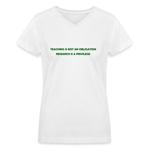 Teaching - Women's V-Neck T-Shirt