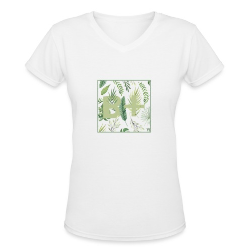 Be positive - Women's V-Neck T-Shirt