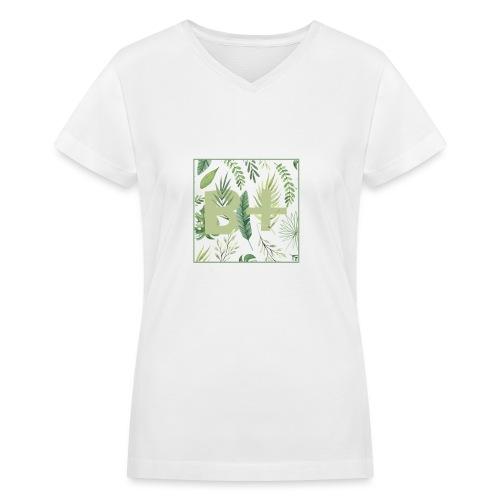 Be positive - Women's V-Neck T-Shirt