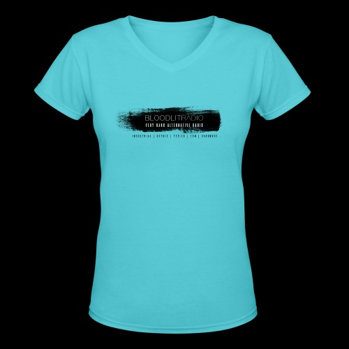 Bloodlit Radio 3 - Women's V-Neck T-Shirt