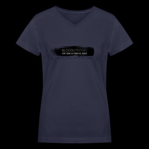 Bloodlit Radio 3 - Women's V-Neck T-Shirt