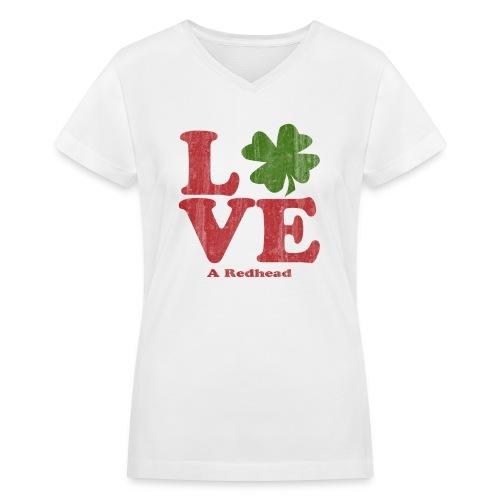 Love A Redhead - Women's V-Neck T-Shirt