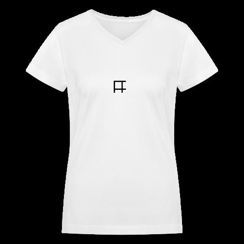 HUGE Logo - Women's V-Neck T-Shirt