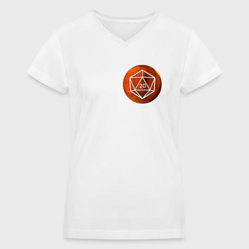 Mars d20 Astronomy Space - Women's V-Neck T-Shirt