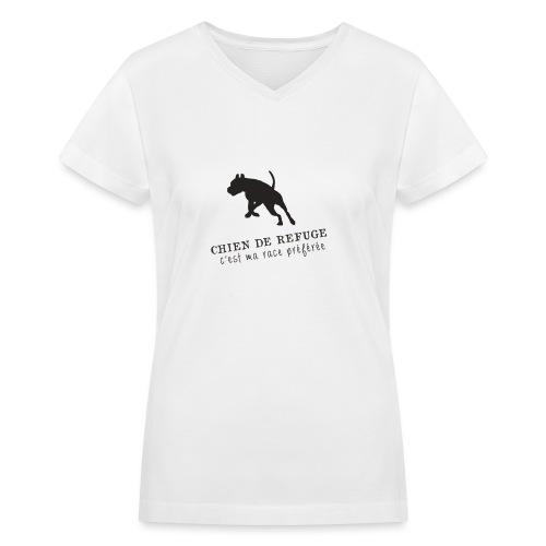 chien de refuge png - Women's V-Neck T-Shirt