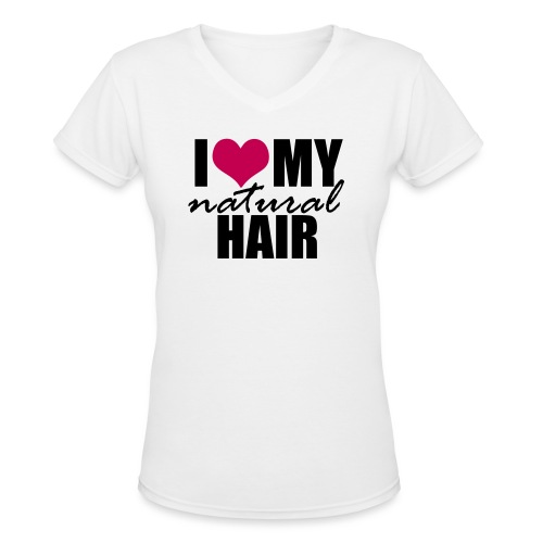 LOVE MY NH pink - Women's V-Neck T-Shirt