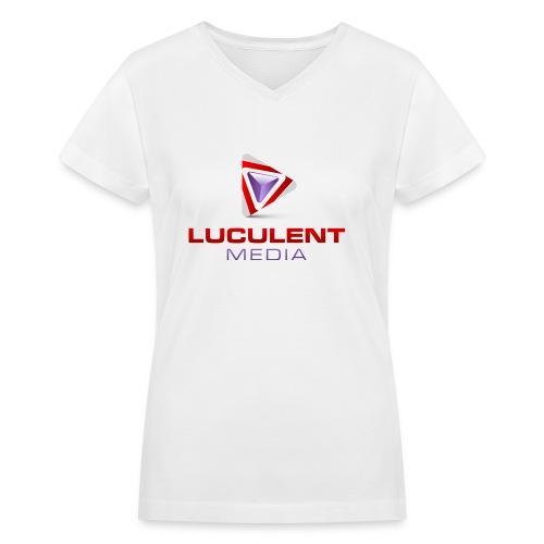 Luculent Media Swag - Women's V-Neck T-Shirt