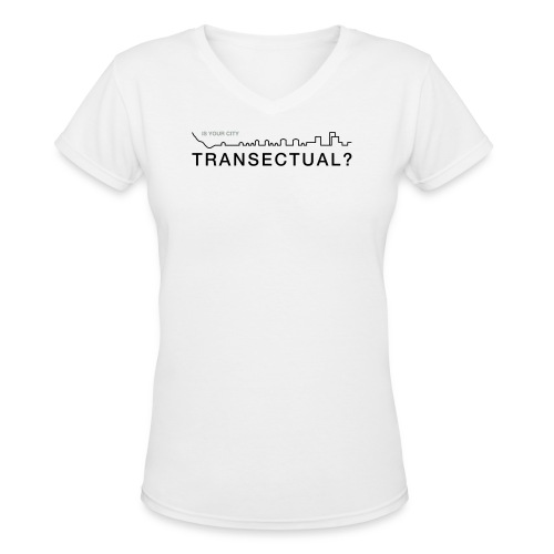 TransectLogo - Women's V-Neck T-Shirt