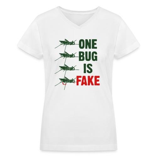 Fly Fishing Hopper - Women's V-Neck T-Shirt