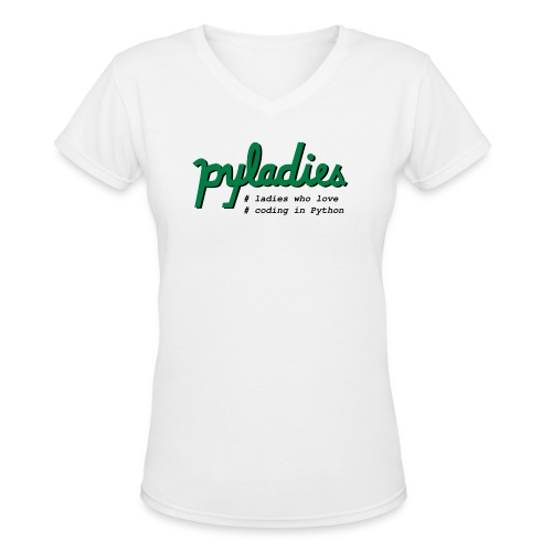 PyLadies Ladies who love coding in Python - Women's V-Neck T-Shirt