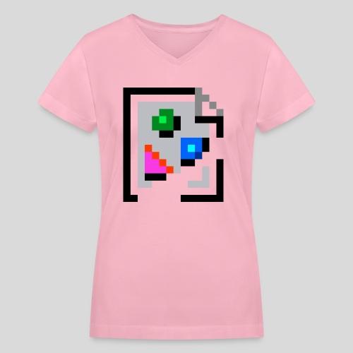 Broken Graphic / Missing image icon Mug - Women's V-Neck T-Shirt