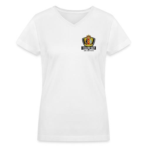 HRA RQ Sgt Dark Text - Women's V-Neck T-Shirt