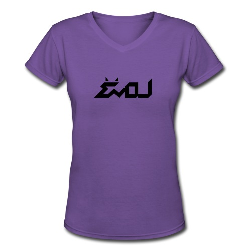 evol logo - Women's V-Neck T-Shirt