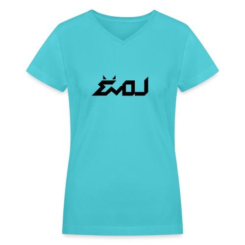 evol logo - Women's V-Neck T-Shirt