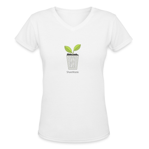 ShareWaste logo - Women's V-Neck T-Shirt
