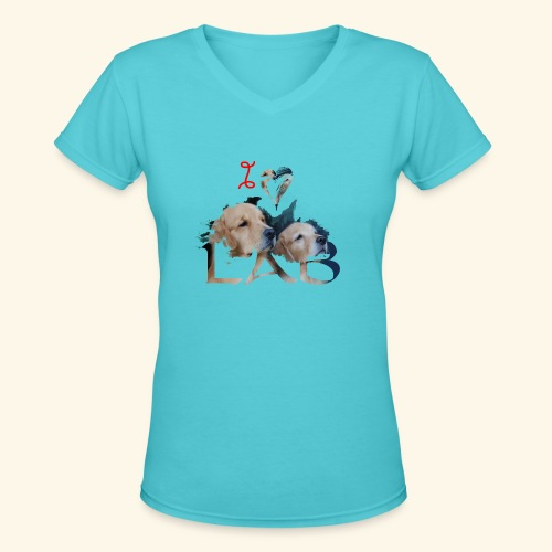 I love Lab - Women's V-Neck T-Shirt