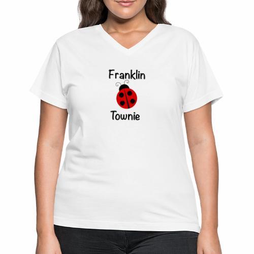 Franklin Townie Ladybug - Women's V-Neck T-Shirt