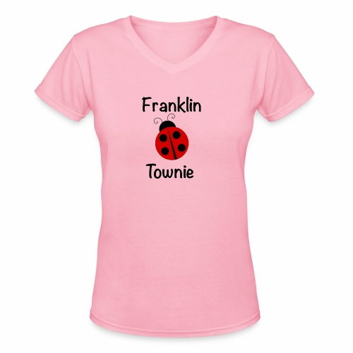 Franklin Townie Ladybug - Women's V-Neck T-Shirt