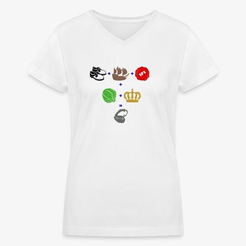 walrus and the carpenter - Women's V-Neck T-Shirt