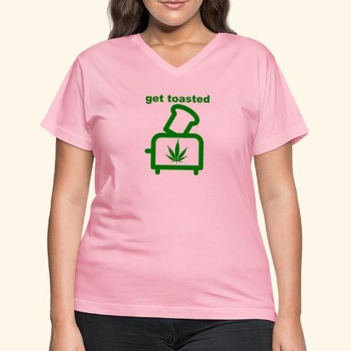GET TOASTED - Women's V-Neck T-Shirt