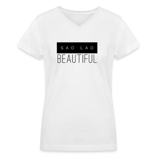 Sao Lao Beautiful - Women's V-Neck T-Shirt