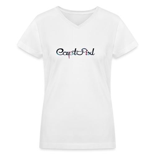 My YouTube Watermark - Women's V-Neck T-Shirt