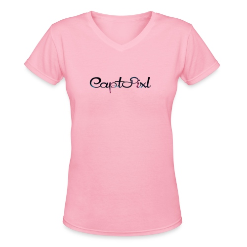 My YouTube Watermark - Women's V-Neck T-Shirt