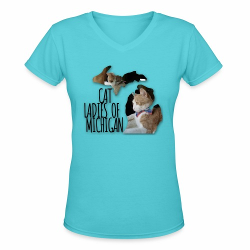 Cat Ladies of Michigan - Women's V-Neck T-Shirt