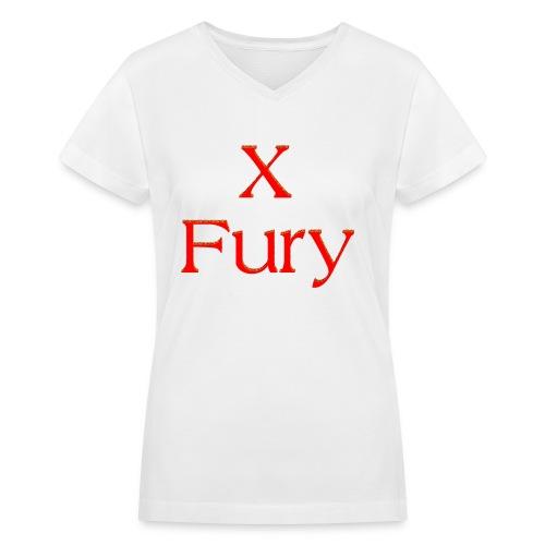 X Fury - Women's V-Neck T-Shirt