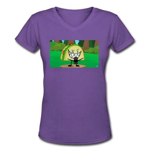 EVIL TACO ha - Women's V-Neck T-Shirt